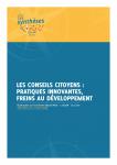 Les conseils citoyens : pratiques innovantes, freins au développement