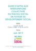Guide d'appui aux interventions collectives du travail social en faveur du développement social  - URL